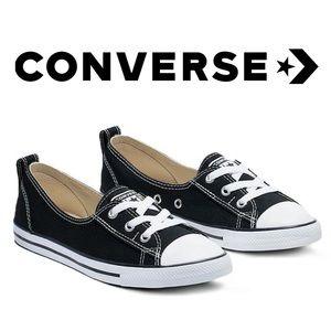 Converse Chuck Taylor Ballet Slip On Shoes - Black